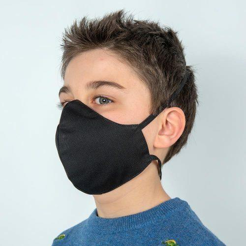 Mascherina bambino nera